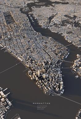 Manhattan III -Acrylglasbild