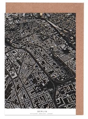 Berlin City Map wenskaartenset