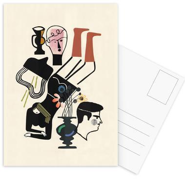 Liegende -Postkartenset