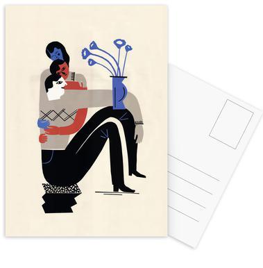 Zu Dritt -Postkartenset