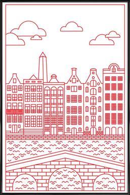 Amsterdam Poster im Kunststoffrahmen
