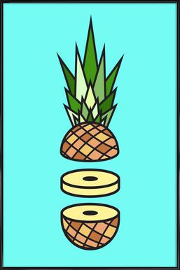 Pineapple ingelijste poster