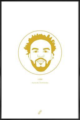 J Cole Framed Poster