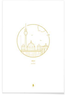 Berlijn - minimalistisch Poster
