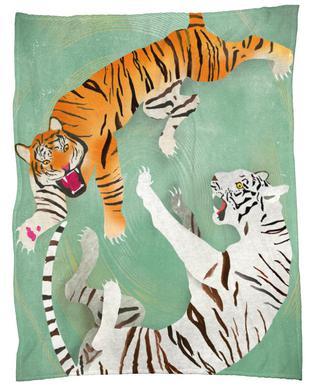 Tigers Fleece Blanket