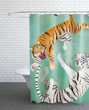 Tigers Douchegordijn