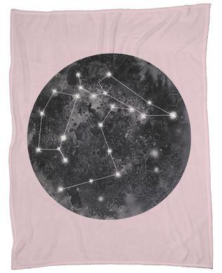 Constellation Pink Fleece Blanket