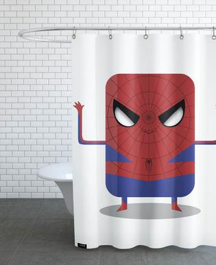 Spiderman As Shower Curtain By Ballooon