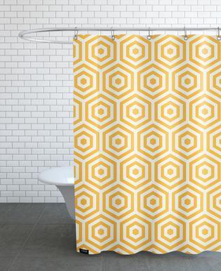 Yellow Beehive Shower Curtain