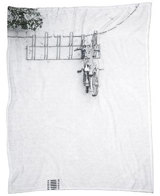 Winter White Bikes Fleecedecke