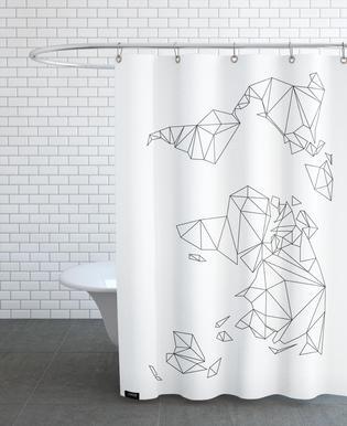 World maps shower curtains juniqe uk geometrical world white studio nahili shower curtain gumiabroncs Gallery