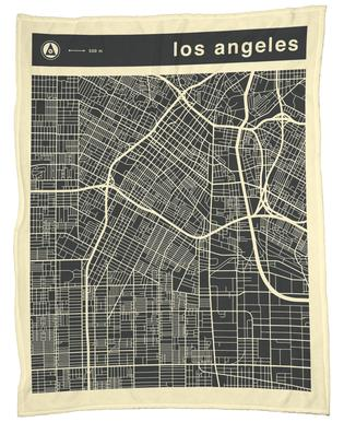 City City Maps Series 3s Series 3 -  Los Angeles -Fleecedecke