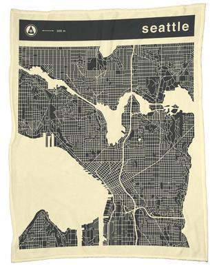 City Maps Series 3 Series 3 - Seattle -Fleecedecke
