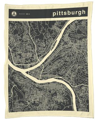 City Maps Series 3 Series 3 - Pittsburgh -Fleecedecke