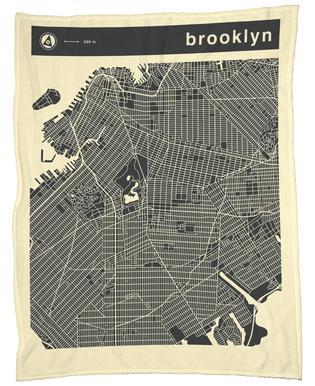 City Maps Series 3 Series 3 - Brooklyn -Fleecedecke