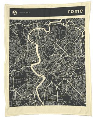 City Maps Series 3 Series 3 - Rome Fleece Blanket