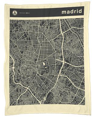 City Maps Series 3 Series 3 - Madrid -Fleecedecke