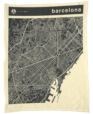 City Maps Series 3 Series 3 - Barcelona -Fleecedecke
