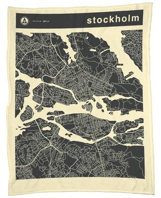 City Maps Series 3 Series 3 - Stockholm -Fleecedecke