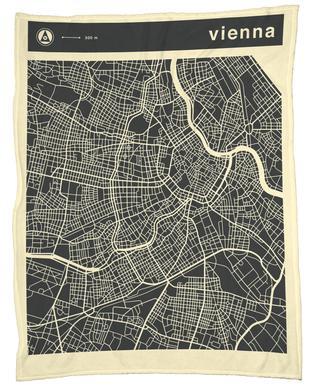 City Maps Series 3 Series 3 - Vienna -Fleecedecke