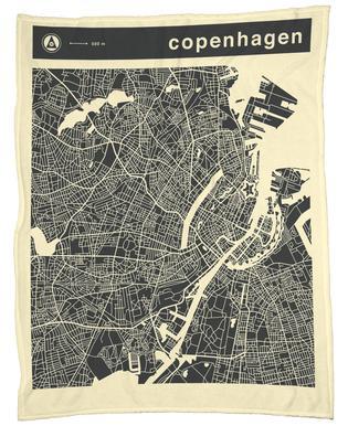 City Maps Series 3 Series 3 - Copenhagen Fleece Blanket