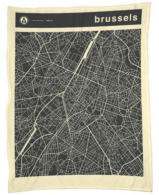 City Maps Series 3 Series 3 - Brussels -Fleecedecke