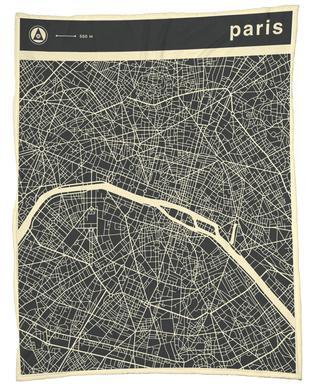 City Maps Series 3 - Paris -Fleecedecke