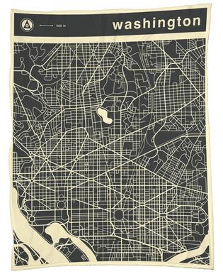 City Maps Series 3 - Washington -Fleecedecke