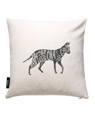 Les chats sont gris Cushion Cover