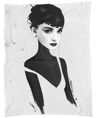 Oh, Audrey Fleece Blanket