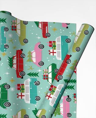Christmas Cars Gift Wrap