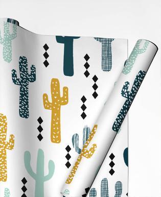 Cactus Mustard Papier cadeau