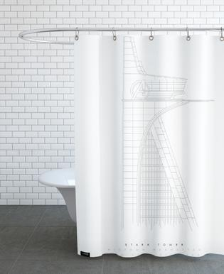 Stark Tower Shower Curtain