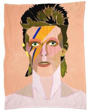 David Bowie Portrait Fleecedecke