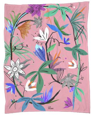 Botanica Passionflower 3 Fleece Blanket