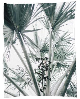 Beach Palm Fruits Plaid