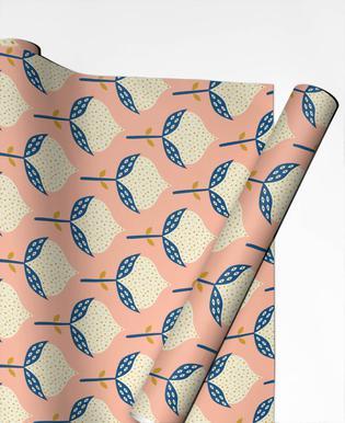 Scandinavian Flower Pattern cadeaupapier