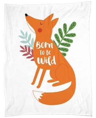 Born to Be Wild Fox Fleece Blanket