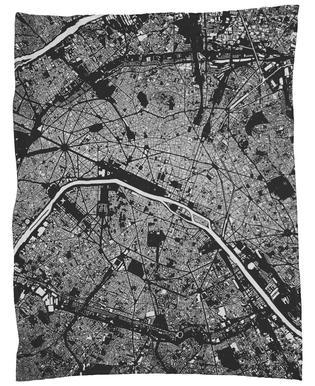 Paris Black Fleecedecke