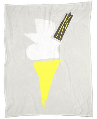 Vanilla Cone Fleece Blanket