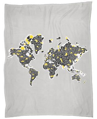 Abstract world map as cushion by fox velvet juniqe uk abstract world map fox velvet fleece blanket gumiabroncs Image collections
