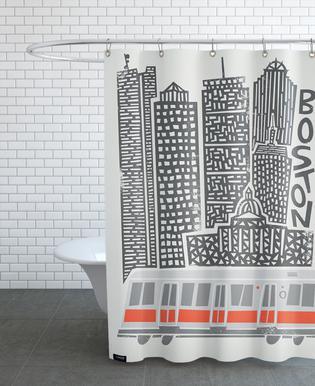 Boston As Shower Curtain By Fox Velvet