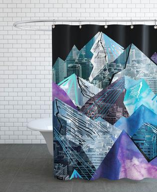 Lost Cities Mountains Shower Curtain