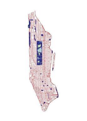 Manhattan Grid Canvas print