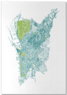 Barcelona Pattern No Pattern Notepad