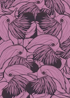 Birds Pink Leinwandbild