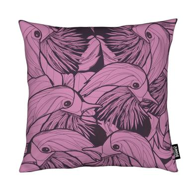 Birds Pink Cushion