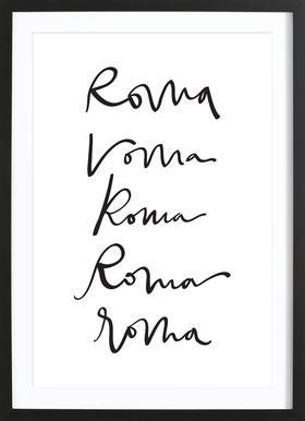 Rome Poster im Holzrahmen
