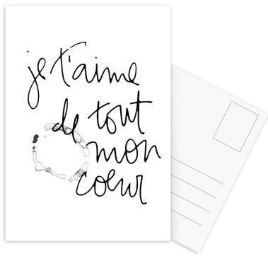Je t'aime Set de cartes postales