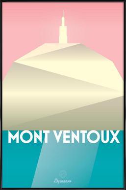 Mont Ventoux II Affiche sous cadre standard